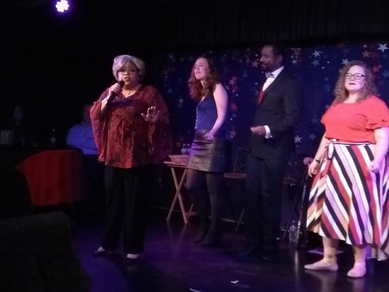 """Robin sings in  """"LOVE in the USA"""" cabaret performance"""