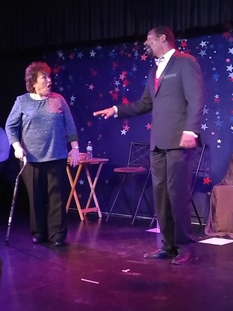 """Marissa and Gene in """"LOVE in the USA"""" cabaret performance"""