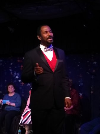 """Gene Bates in """"LOVE in the USA"""" cabaret performance"""
