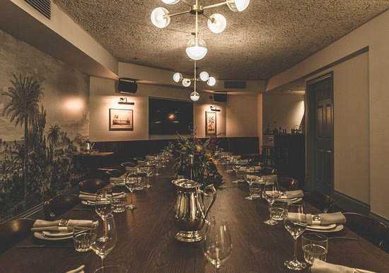 The Gidley's private dining room is called the Norfolk Room - a dining room with private bar