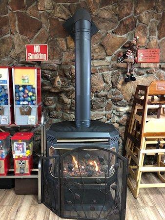 Saint Ignatius, MT: Franklin stove