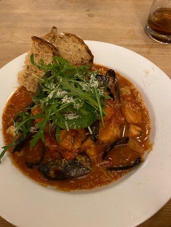 Johnshaven, UK: Italian seafood stew
