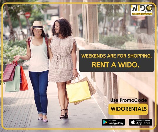 Visakhapatnam District, India: Yippee!!! It's WEEKEND.. Planning to shop around and empty your purses this weekend? WIDO will help you tick off your shopping checklist taking you to multiple shopping malls around the city.  Go...Rent A WIDO now.  Download our app at play store here 📱: https://bit.ly/36sqBfZ  We are launching soon in the IOS app store🤩.  WIDO Best Offers: 💥 Zero Surge 24/7⏰ 💥 First Ride Free and 50% OFF on FIRST 3 Rides 💥 Lowest Fares 💥 Police👮 Verified Drivers 💥 Brand Partners: Razorpay, Amazon Web se