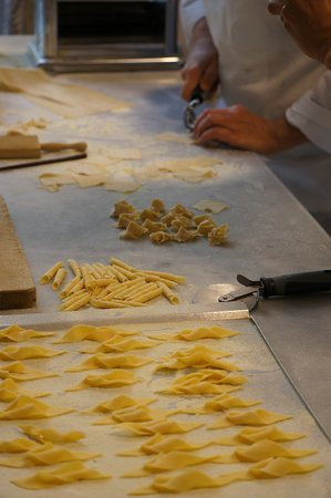 Different shapes of pasta