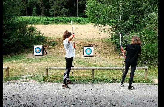 Dalguise, UK: Campo de tiro con arco de nuestros campamentos de verano en Inglaterra