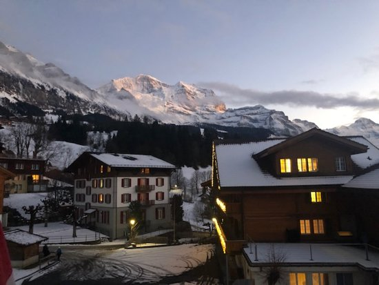 View of the Jungfrau from our Room.