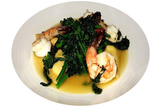 Harrington Park, NJ: shrimp & ravioli