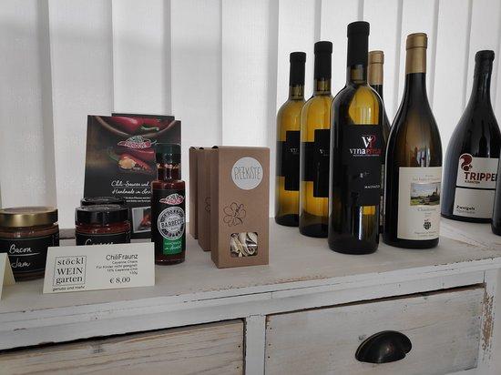 Chili, Austernpilz und Wein aus Istrien. Gibt es nur in stöcklWEINgarten!