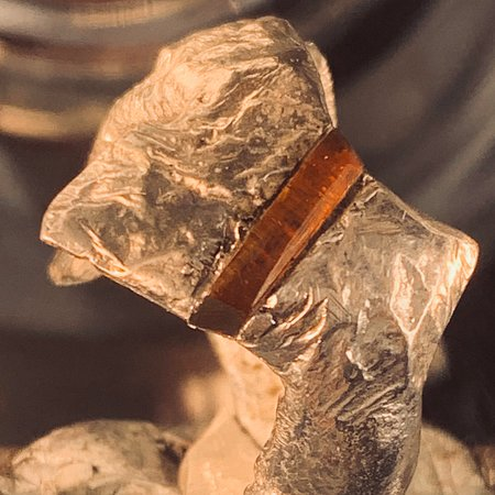 """A real rough looking ring with danish Amber. Ajustable - out of the new 2020 kollektion """"Frosted"""""""