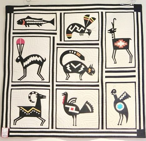 Quilt Wall Hanging with Petroglyphs