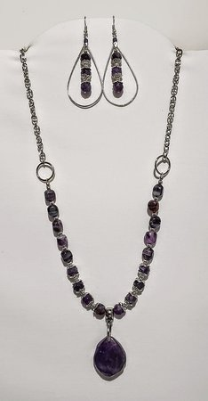 Mountain Grove, MO: Purple Amethyst Gemstone Pendant Necklace