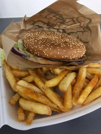 Cheeseburger tallerken