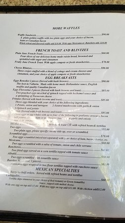 Page 2 of English Menu