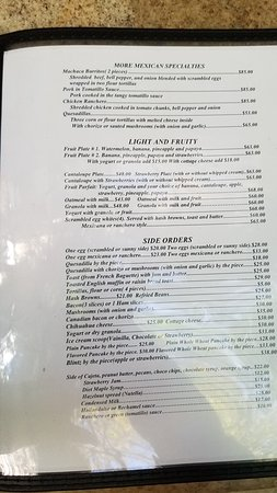 Page 3 of English Menu