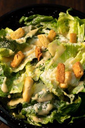 QC Pizza Mahtomedi MN. Caesar Salad. Real Quad City Style Pizzeria