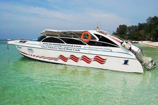 Hat Yai flyplass til Koh Lipe av Minivan og Satun Pakbara Speed Boat
