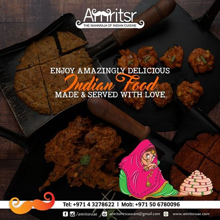 #Food so good that you'll be #Craving for more 😋  Come and relish #MouthWatering Indian food in a surreal #Ambience at Amritsr  For reservations or door delivery, call us at +971 4 3278622 | +971 50 6780096  Order Online - http://bit.ly/2CUOaB6  OPEN 24 HOURS!  #Amritsr #AmritsrDubai #Hungry #Foodies #FoodLovers #FoodLove #IndianFood #IndianFoodie #IndianCuisine #Foodie #DubaiFoodie #DubaiFoodies #Dubai #UAE #DubaiFood
