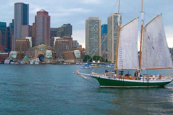 Cruise Boston Harbor on our 67 Foot Tall Ship Schooner Photo