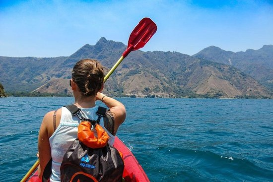 Kayak sur le lac Atitlan