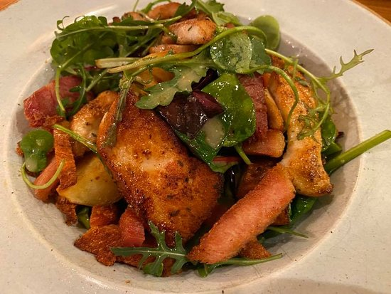 Grilled Chicken & Gubbeen, Bacon Salad