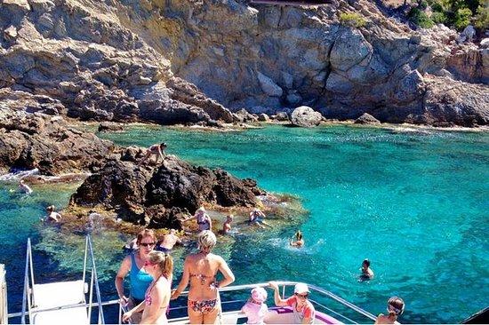 Mallorca Strender Dagstur med båt