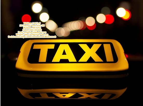 Taxi service in Waltham, Massachusetts.