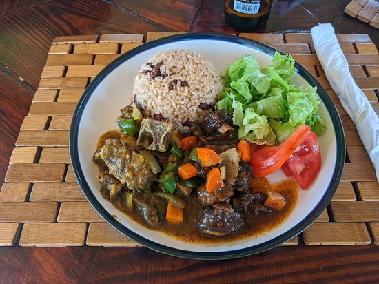 Montego Bay Food Drink & Culture Tour: Curry goat and oxtail with red beans and rice