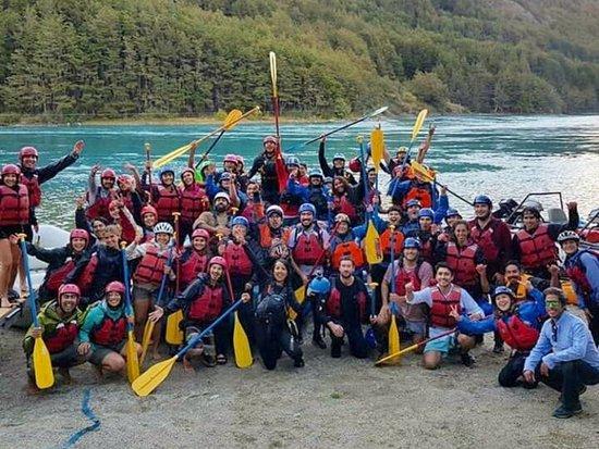 Rafting para Baker Patagonia Aventura, río Baker, Puerto Bertrand, región de Aysén, Chile 2019.