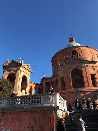 Il santuario della Madonna di San Luca (San Lócca in bolognese) è una basilica dedicata al culto cattolico mariano e si eleva sul colle della Guardia, uno sperone in parte boschivo a 280 m s.l.m. a sud-ovest del centro storico di Bologna.