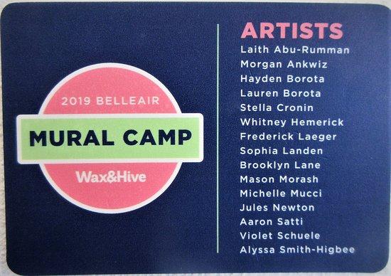 Belleair, FL: Names of Young Artists at Mural Camp
