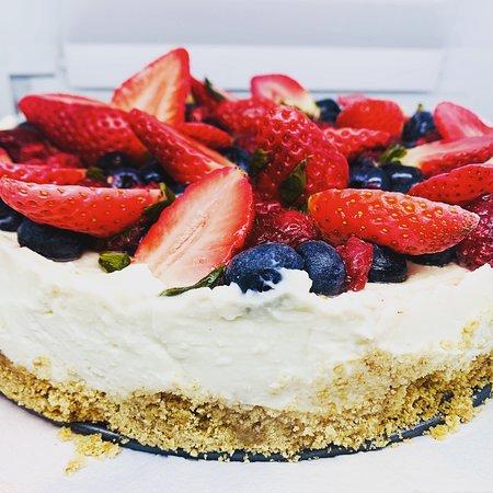 mixed fruit cheese cake home made