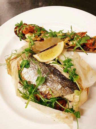 cartuccio of sea bass