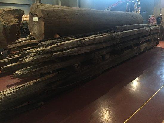 Patterson, LA: Cypress logs,