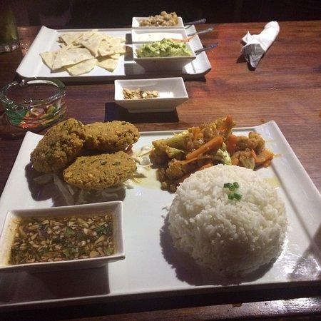 Yummy delicious vegan food