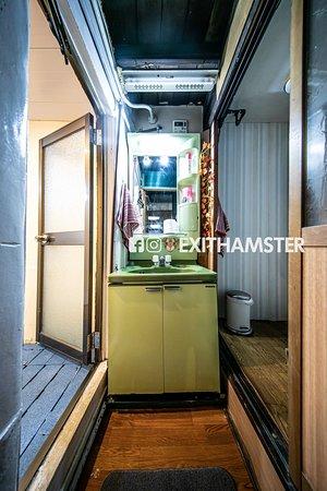 Bathroom - right toilet. left shower cabin.