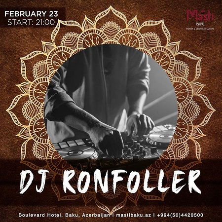 Make a reservation in advance on February 9. A rich program with the participation of DJ Ronfoller is waiting for you!