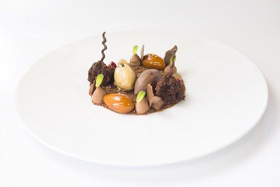 Chocolate en texturas.