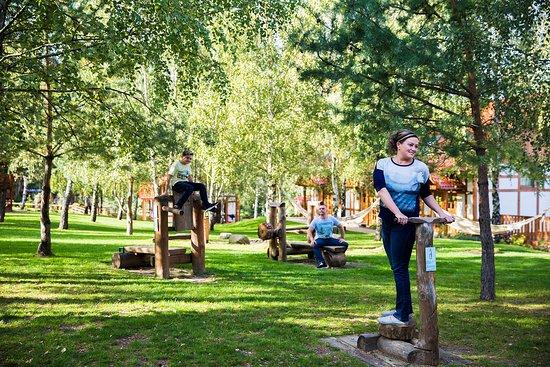 Rustykalny outdoor fitness