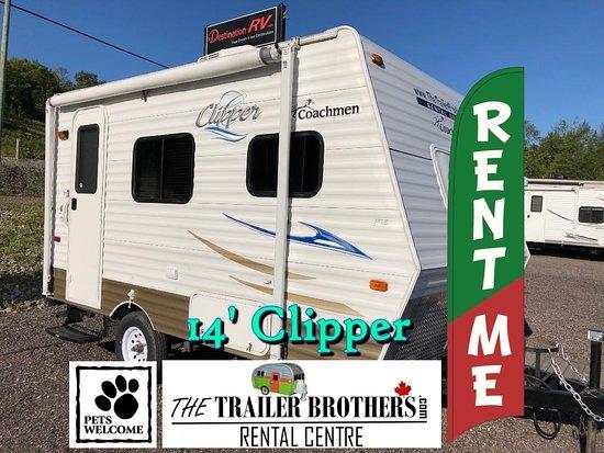 Waubaushene, Канада: 14' Clipper 'Couples Pet Friendly Trailer'