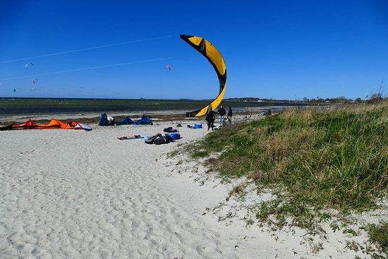 Lomma, Швеция: Första starten efter lektionerna i vår kiteskola
