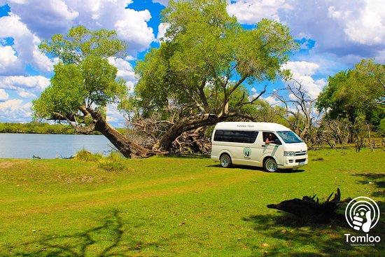 Касане, Ботсвана: Our Shuttle at Chobe river