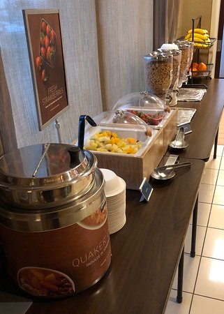 Complimentary breakfast showed signs the hotel is trying to improve their image.