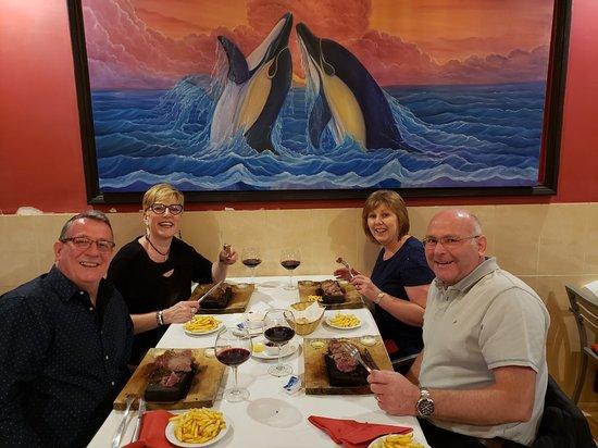 Fantastic steak dinner