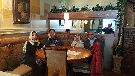 Waiting for the food. L to R Rahila Ghazanfar, Ghazanfar Ali Khan, Sabiha Sagri, and Tanvir Sagri.