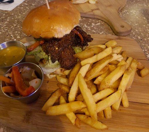 Salt Pepper Chicken Burger Picture Of The Rotisserie Hub Liverpool Tripadvisor