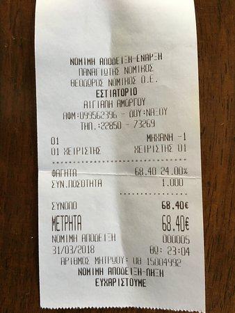 """Ormos Egialis, Greece: E' un po' di tempo che ho messo in """"castigo"""" questo locale che frequentavo da moltissimi anni. Purtroppo ha scelto la strada della """"quantità"""" (intesa come numero di turisti da servire) piuttosto che quella della """"qualità"""". Peccato."""