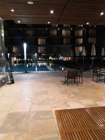 Pool, gym and spa.
