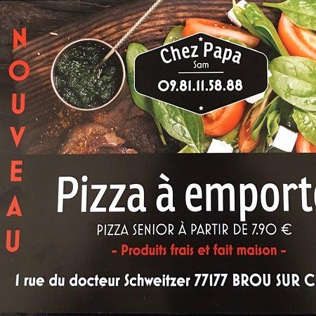Brou-sur-Chantereine, France: Chez papa piz des vrais pizza avec des lardons du jambon des vrais pommes de terre sur la savoyarde et du bon saumon fumé mariné l'aneth et des Bonne Merguez à très vite