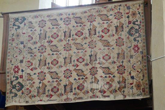 Biertan, un tappeto orientale esposto nella chiesa