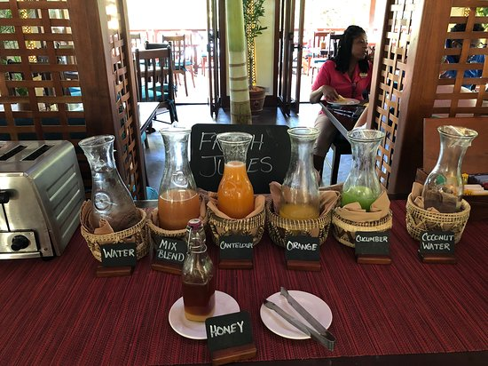 fresh juice at breakfast!